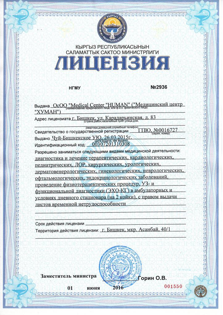 Лицензия Хуман